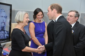Kate Aidie greets the Prince.