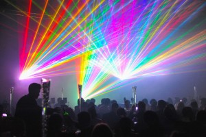 event photography laser light show